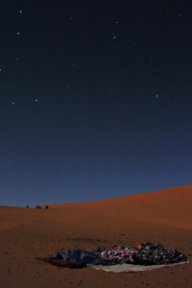 Snoozing under the stars in the Sahara